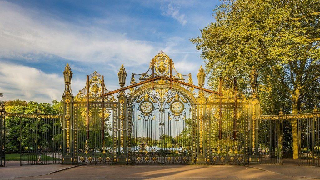 grilles d'entrée du parc de la Tête d'Or